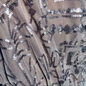 Mori Lee Dresses - Mori Lee Bridesmaids dress w/ sequins and ribbon.